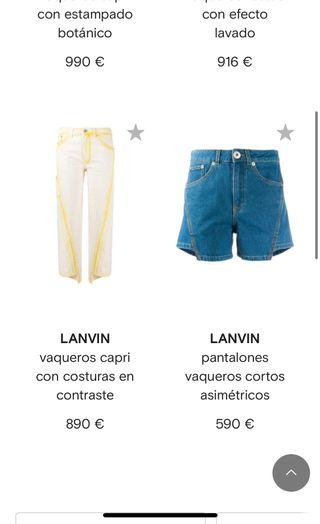 pantalon tejano corto LANVIN