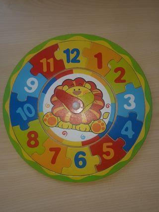 Reloj-puzzle infantil