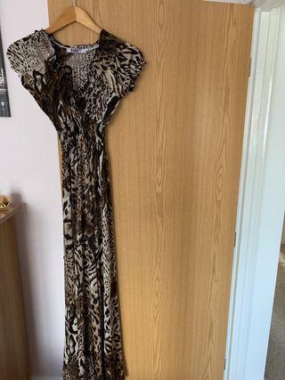Brown Leopard print dress