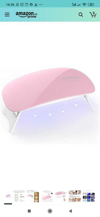 mini lampara gel uñas uv y led
