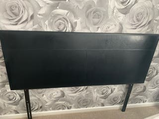 Black king size Leather Headboard