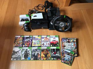 Xbox 360 250gb/hoy con kindct+ accesorios
