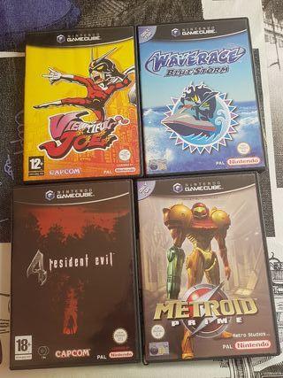 4 juegos de game cube
