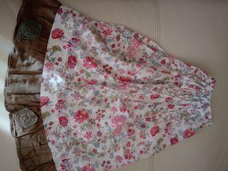 Falda Catimini niña estampada de flores rosas