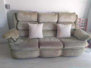 Sofá de tres plazas+sillón relax