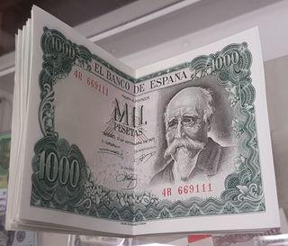 Billete 1000 Pesetas José Echegaray 1971