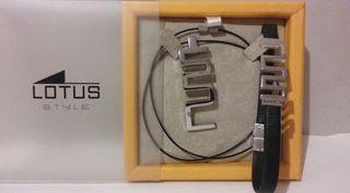 Conjunto de colgante y pulsera Lotus Style