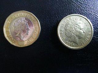 Monedas libras Reino Unido