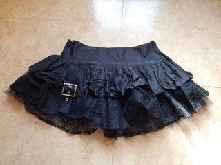 Falda de tul con telarañas de estilo gótico