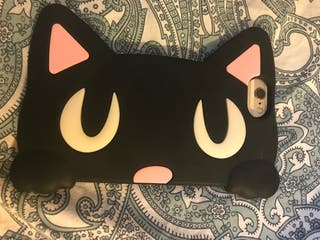 Funda carcasa silicona gato iphone 6 6s