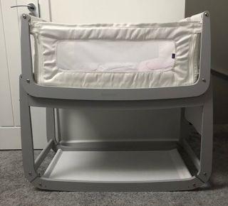 SnuzPod 3 Bedside Crib Haze Grey Bundle