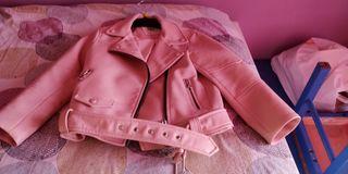 chaqueta de cuero niña