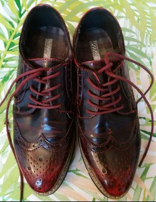 Zapatos Oxford granates T 36