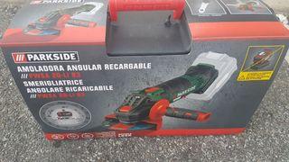 amoladora angular 125mm 20 voltios para batería