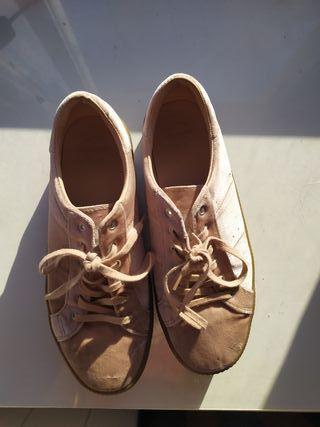 Zapatillas de terciopelo con plataforma