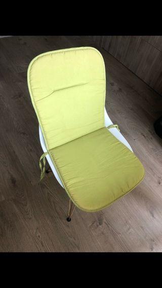 Cojines verdes silla exterior