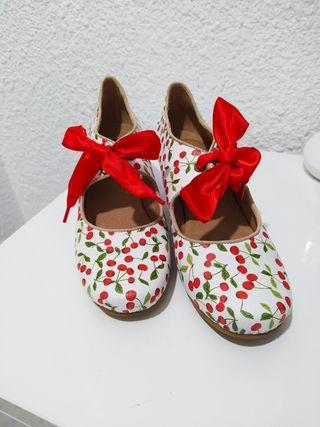 zapatos vintage Laura Vita de piel