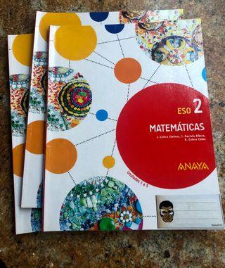 Libros 2 ESO Matemáticas, Anaya