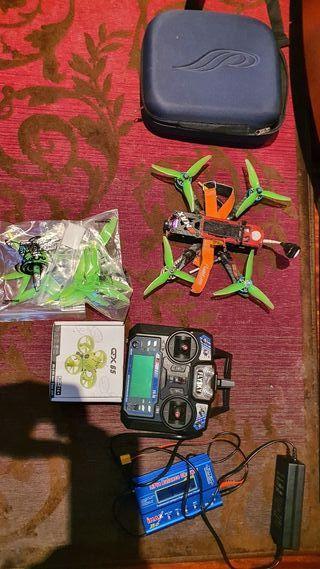 Drone de carreras y drone qx65
