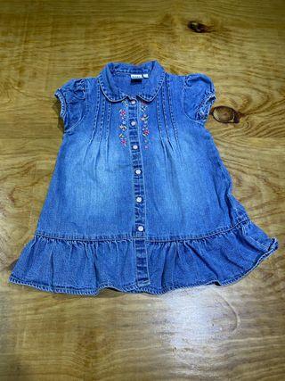 Talla 18-24 meses Vestido vaquero ropa bebé niña