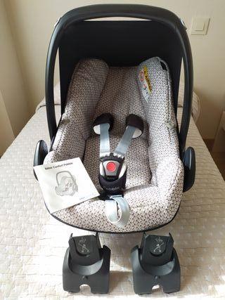 Silla de coche Grupo 0+ Bebé Confort y Base Isofix
