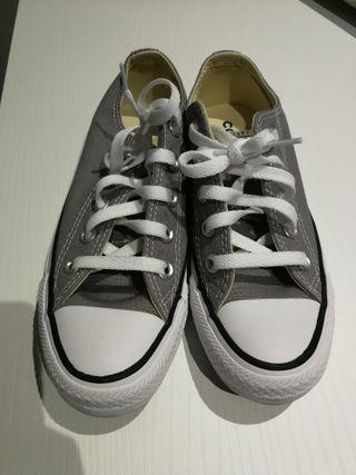 bambas Converse gris
