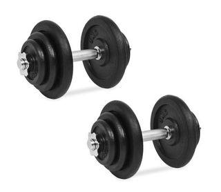 Juego de mancuernas hierro fundido 18 piezas 40 kg
