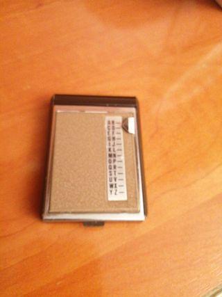 ajenda de teléfono vintaje de bolsillo