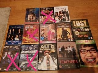Movie and series DVDS