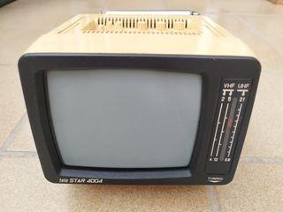 TELEVISOR PORTATIL TELE STAR 4004 B/N AÑOS 70'/80'