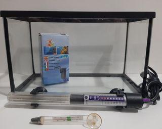 Pack Pecera + Filtro +Calentador + Termómetro