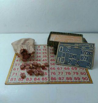 Bingo de los años 30. Juegos antiguos
