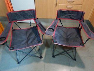 sillas plegables de camping decathlon