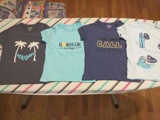 Camisetas bebé (lote de 4)