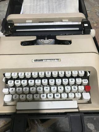 maquina de escribir hispano olivetti lettera 35