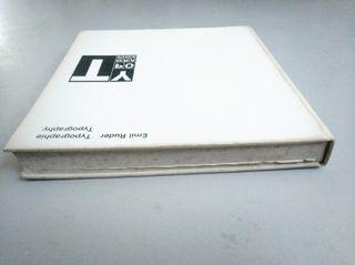 """""""TYPOGRAPHY"""" de Emil Ruder, 1967"""