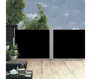 Toldo lateral retráctil negro 170x1000 cm