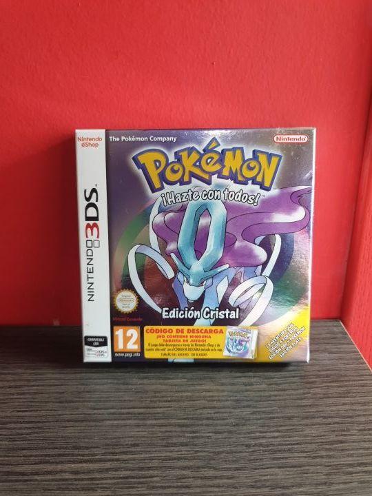 Caja Pokemon Plata 3DS + Caja Pokemon Cristal 3DS