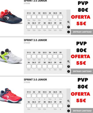 Zapatillas de Padel HEAD JUNIOR