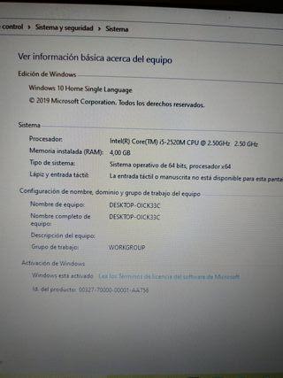 Ordenador portátil HP Elitebook 8460p