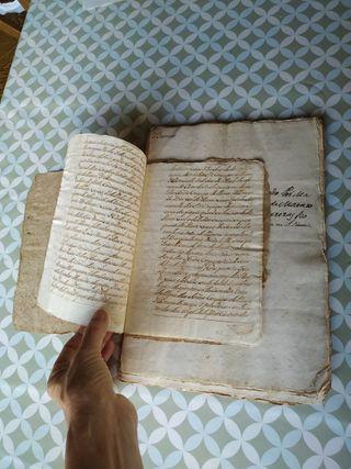 Manuscrito antiguo S. XVIII