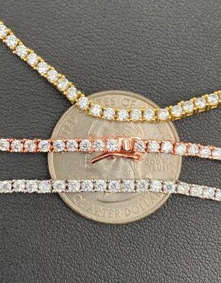 "Cadena Collar PLATA DE LEY 925 ""Tennis Chain"""