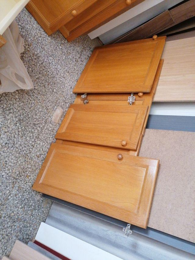 Puertas de cocina en roble