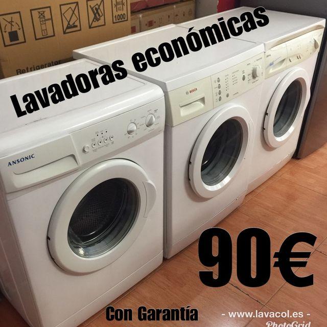 Oferta de lavadoras con garantía