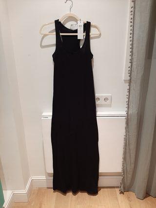 vestido negro largo Vero Moda