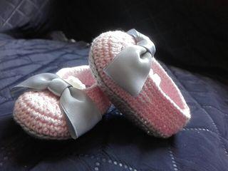 sandalia crochet/ganchillo bebe