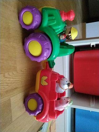 Tren de juguete, granja, animales. Juguetes.