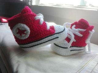 zapatillas bebe de crochet/ganchillo