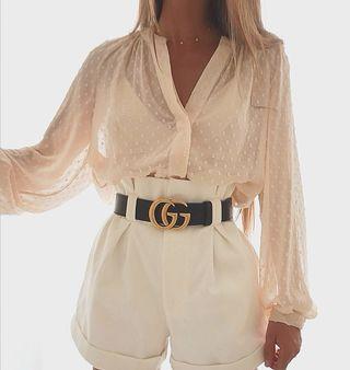 blusa plumeti Zara, camisa