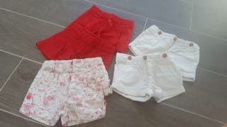 Lote 6 pantalones cortos Niña